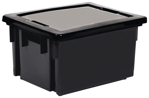bac de rangement 20 l gris avec couvercle pour manutention brico d p t. Black Bedroom Furniture Sets. Home Design Ideas
