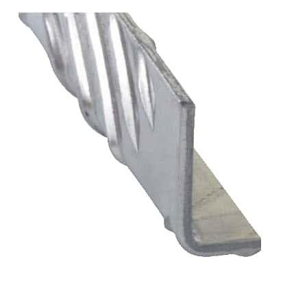 Cornière En Aluminium Brut Aspect Damier L 2 M L 50 Mm H 30 Mm