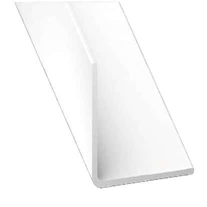 corni re en pvc blanc l 2 50 m l 30 mm h 30 mm brico d p t. Black Bedroom Furniture Sets. Home Design Ideas
