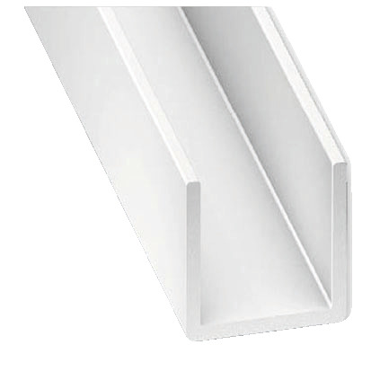 Profilé En U Pvc Blanc L 2 50 M 10x18 Mm Intérieur 16 Mm