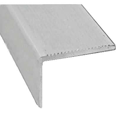 Nez De Marche En Aluminium Brut L 2 M 45x23 Mm