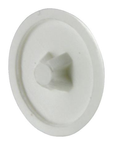 20 cache vis blancs en plastique pour vis vba empreinte. Black Bedroom Furniture Sets. Home Design Ideas