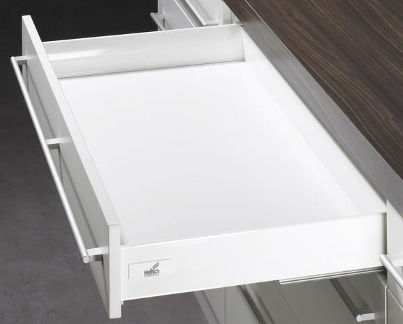 tiroir et casserolier amortis blancs h 13 5 cm et 27 5 cm brico d p t. Black Bedroom Furniture Sets. Home Design Ideas