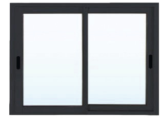 fen tre coulissante en aluminium 2 vantaux gris l 120 x h 120 cm x ep 50 mm brico d p t. Black Bedroom Furniture Sets. Home Design Ideas