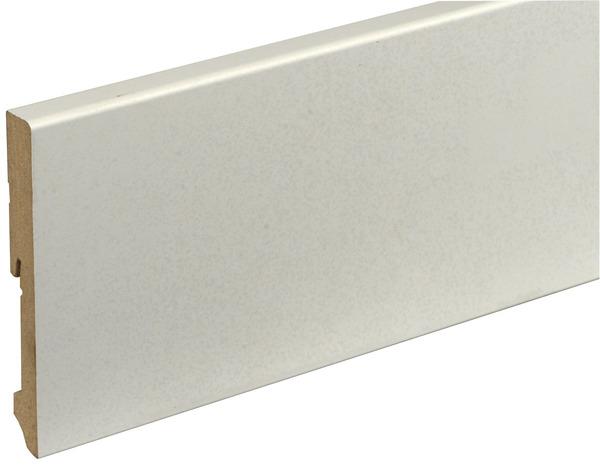 plinthe de r novation en bois avec rev tement film blanc 2400x120x15 mm brico d p t. Black Bedroom Furniture Sets. Home Design Ideas