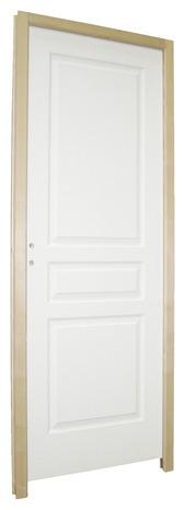 bloc porte en bois alv olaire 204x63 cm gauche brico d p t. Black Bedroom Furniture Sets. Home Design Ideas