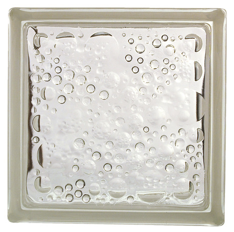 brique de verre bull e incolore h 19 x l 19 x p 8 cm brico d p t. Black Bedroom Furniture Sets. Home Design Ideas