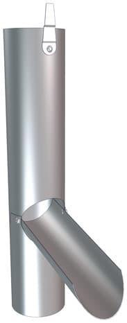 r cup rateur clapet en zinc 100 mm brico d p t. Black Bedroom Furniture Sets. Home Design Ideas