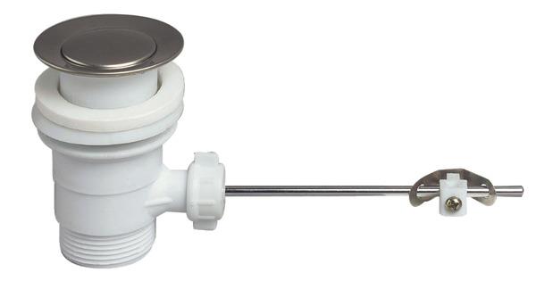 bonde de lavabo en plastique sans tirette brico d p t. Black Bedroom Furniture Sets. Home Design Ideas