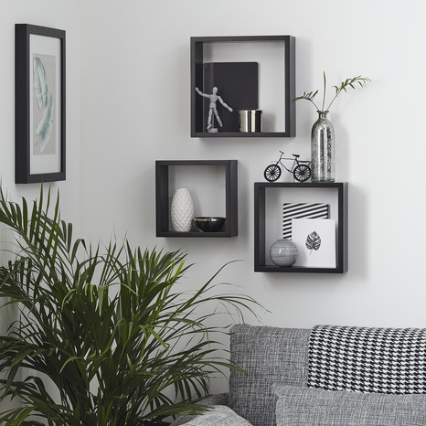 lot 3 cubes blanc 30cm blanc brico d p t. Black Bedroom Furniture Sets. Home Design Ideas