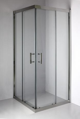 acc s d 39 angle droit kroma verre transparent h 195 cm l 90 cm brico d p t. Black Bedroom Furniture Sets. Home Design Ideas