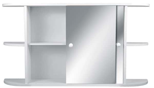 armoire de toilette rila en mdf panneau de fibres. Black Bedroom Furniture Sets. Home Design Ideas