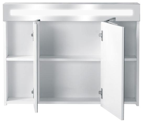 armoire de toilette alerra en ppsm h 60 cm l 80 cm p 17. Black Bedroom Furniture Sets. Home Design Ideas