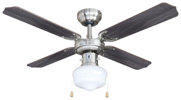 ventilateur de plafond satin d 107 cm 220 240 v brico d p t. Black Bedroom Furniture Sets. Home Design Ideas
