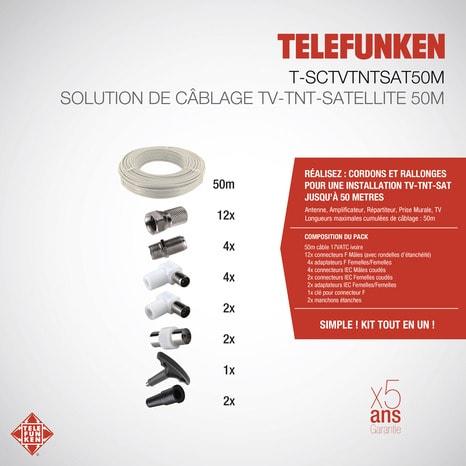 kit de c blage antenne pour tnt et satellite brico d p t. Black Bedroom Furniture Sets. Home Design Ideas