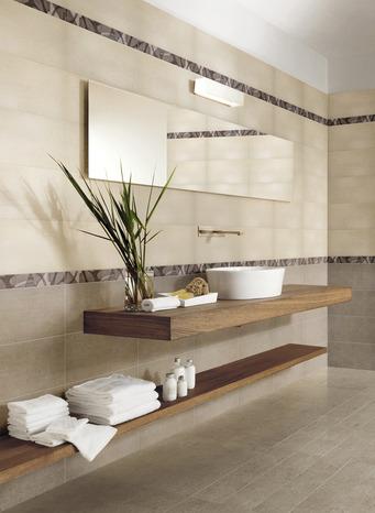 Faïence taupe aspect mat pour salle de bain 20 x 40 cm - Brico Dépôt