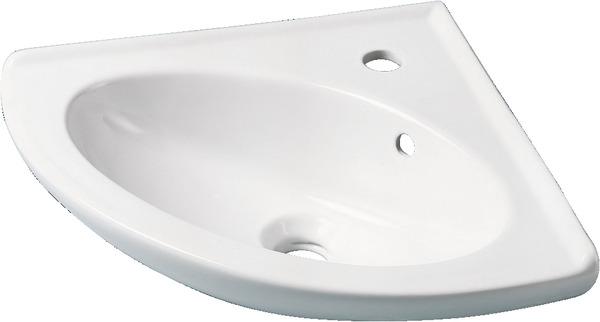 Lave-mains d\'angle blanc 38x38x18,5 cm poids. 8,5 kg - Brico Dépôt