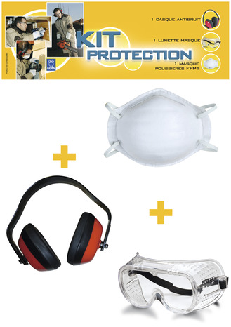 466e9a12d3cc3d Kit de protection lunette, masque et casque, pour les travaux de bricolage  - Brico Dépôt
