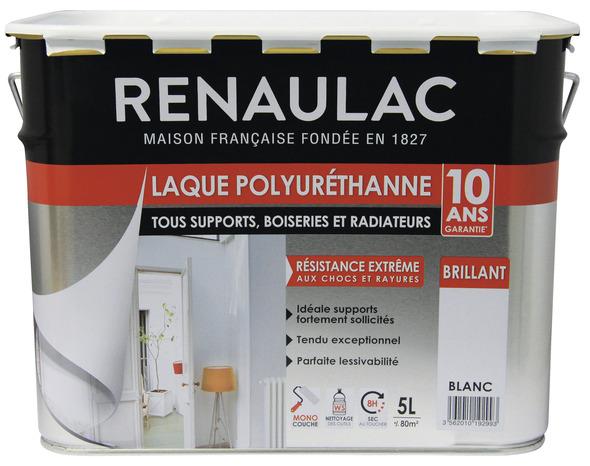 Peinture Brillante Acrylique Monocouche Blanc 5 L   RENAULAC   Brico Dépôt