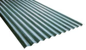 Plaque ondul e en acier galvanis l 200 cm l 90 cm - Peinture pour toiture fibro ciment brico depot ...