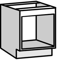 Meuble bas four 60cm bali blanche brico d p t for Meuble encastrable pour four et plaque de cuisson