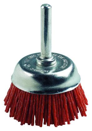 Brosse en nylon abrasif orange 75 mm conique tig brico - Brosse pour perceuse ...