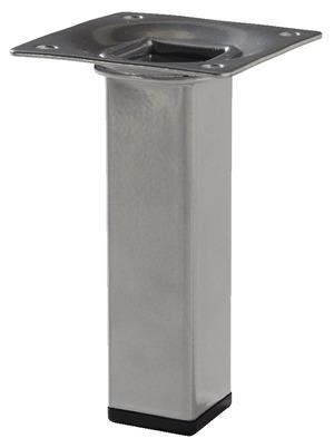 pied carr en acier gris alu 25x25 mm h 100 mm brico d p t. Black Bedroom Furniture Sets. Home Design Ideas
