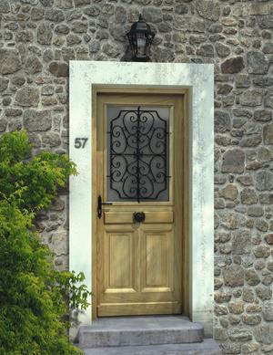 porte d 39 entr e en bois et aluminium h 215 l 90 cm ep 4 5 cm droite brico d p t. Black Bedroom Furniture Sets. Home Design Ideas