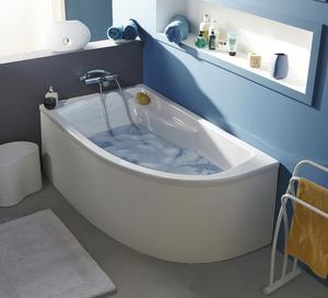 Baignoire baln o salle de bains wc brico d p t - Baignoire gain de place castorama ...