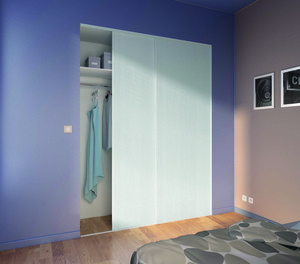 PACKS DE 2 PORTES BLANCHES H. 250 CM