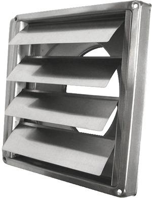 grille inox clapet standard brico d p t. Black Bedroom Furniture Sets. Home Design Ideas