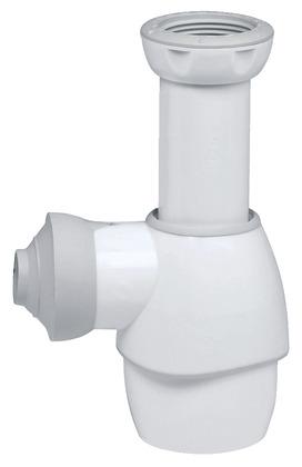 siphon universel blanc pour lavabo lave mains bidet ou vier r glable en hauteur de 125 170. Black Bedroom Furniture Sets. Home Design Ideas