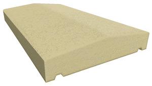 couvre mur en b ton ton sable 2 pans x x p 5 cm brico d p t. Black Bedroom Furniture Sets. Home Design Ideas