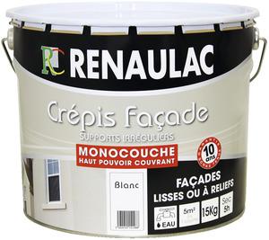 Cr pi enduit d coratif brico d p t for Peinture crepi exterieur parpaing