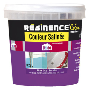 R sinence color 0 25 l blanc brico d p t for Prix resinence color