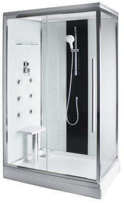 Cabine de douche 120 x 80 cm moretti brico d p t for Paroi de douche brico depot