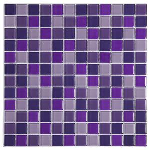 Mosa que de verre mix violet brico d p t for Mosaique salle de bain rose