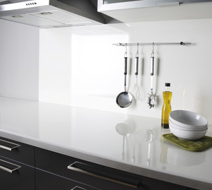 plan de travail stratifi 3m d cor blanc brillant chant. Black Bedroom Furniture Sets. Home Design Ideas