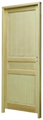 bloc porte bois clair paulownia larg 83 cm droite