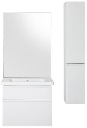Meuble salle de bain Attitude en bois clair & blanc - Brico Dépôt