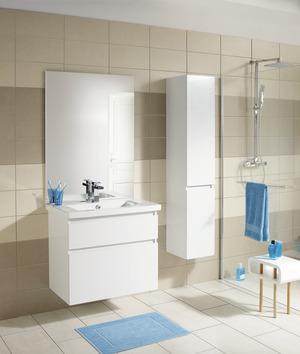 Meuble Sous Vasque Attitude Laqué Blanc Brillant H Cm L - Magasin salle de bain montpellier