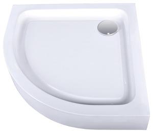 Receveur de douche 1 4 de cercle acrylique blanc 80x80 cm for Bac de douche pas cher