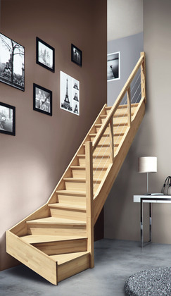 escalier colima on escamotable quart tournant balustrade brico d p t. Black Bedroom Furniture Sets. Home Design Ideas