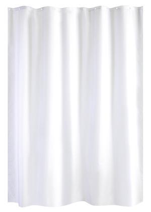 Rideau De Douche Anti Moisi Blanc En Polyester 180x200 Cm Brico Depot