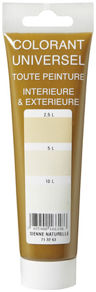 Colorant sienne naturelle tube 100 ml - L'UNIVERSEL - Brico Dépôt