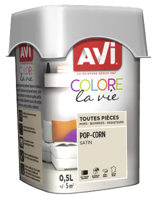 PEINTURE MULTI-SUPPORT 0,5L SATIN POP CORN POP CORN 0,5 L - AVI - Brico Dépôt