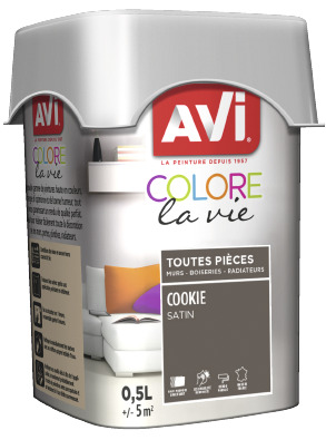 PEINTURE MULTI-SUPPORT 0,5L SATIN COOKIE COOKIE 0,5 L - AVI - Brico Dépôt