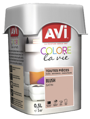 PEINTURE MULTI-SUPPORT 0,5L SATIN BLUSH BLUSH 0,5 L - AVI - Brico Dépôt
