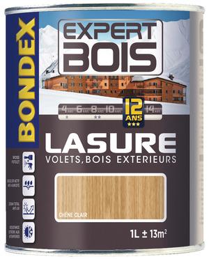 Lasure 12 ANS Couleur Chêne De Finition Transparente Tous Supports 4 L    BONDEX   Brico