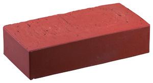 Brique pleine rouge lisse uni l 22 x l 10 5 x p 6 cm brico d p t - Dimension brique rouge ...